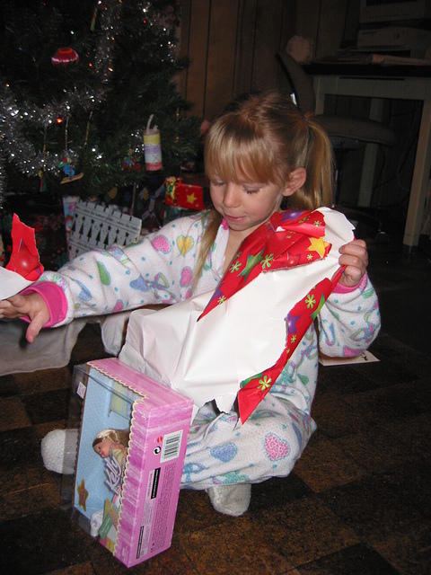 And a Kelly doll from Santa too.