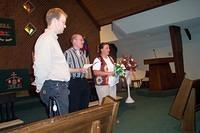 Shawn, Rev. Larry Miller, and Michelle. 10/3/03